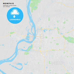 Printable street map of Memphis, Tennessee - HEBSTREITS