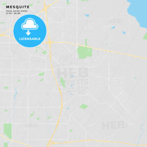 Printable street map of Mesquite, Texas - HEBSTREITS