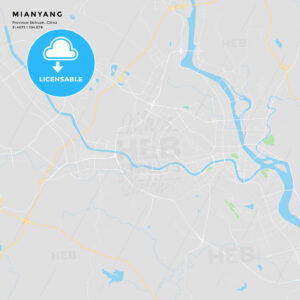 Printable street map of Mianyang, China - HEBSTREITS