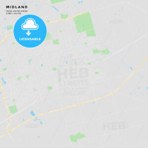 Printable street map of Midland, Texas - HEBSTREITS