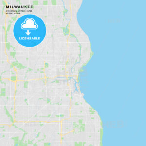 Printable street map of Milwaukee, Wisconsin - HEBSTREITS