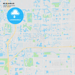Printable street map of Miramar, Florida - HEBSTREITS