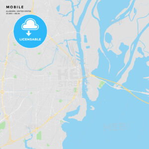 Printable street map of Mobile, Alabama - HEBSTREITS