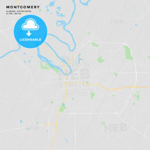 Printable street map of Montgomery, Alabama - HEBSTREITS