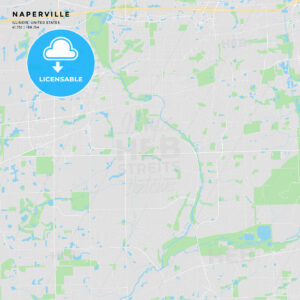 Printable street map of Naperville, Illinois - HEBSTREITS