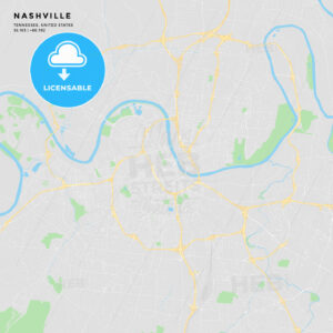 Printable street map of Nashville, Tennessee - HEBSTREITS