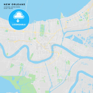 Printable street map of New Orleans, Louisiana - HEBSTREITS