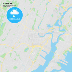 Printable street map of Newark, New Jersey - HEBSTREITS