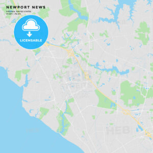 Printable street map of Newport News, Virginia - HEBSTREITS