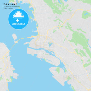 Printable street map of Oakland, California - HEBSTREITS