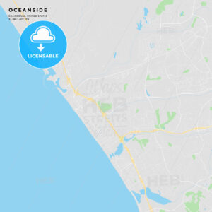 Printable street map of Oceanside, California - HEBSTREITS