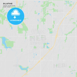 Printable street map of Olathe, Kansas - HEBSTREITS