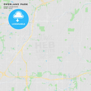 Printable street map of Overland Park, Kansas - HEBSTREITS