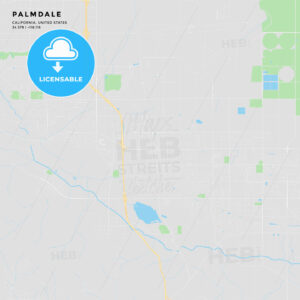 Printable street map of Palmdale, California - HEBSTREITS