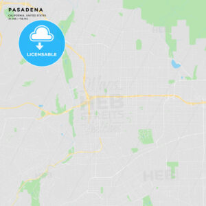 Printable street map of Pasadena, California - HEBSTREITS