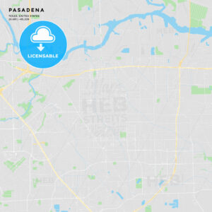 Printable street map of Pasadena, Texas - HEBSTREITS