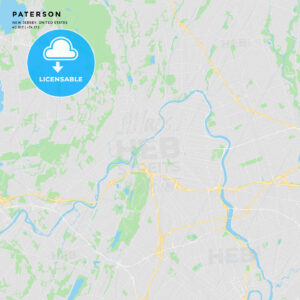 Printable street map of Paterson, New Jersey - HEBSTREITS