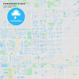 Printable street map of Pembroke Pines, Florida - HEBSTREITS