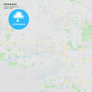 Printable street map of Phoenix, Arizona - HEBSTREITS