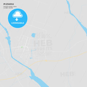Printable street map of Pizhou, China - HEBSTREITS