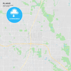 Printable street map of Plano, Texas - HEBSTREITS