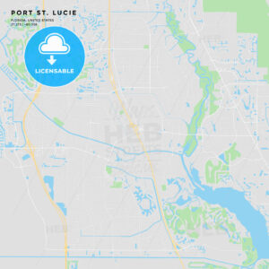 Printable street map of Port St. Lucie, Florida - HEBSTREITS