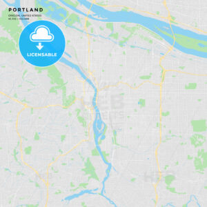 Printable street map of Portland, Oregon - HEBSTREITS