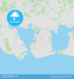 Printable street map of Portsmouth, England - HEBSTREITS