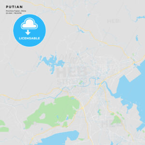 Printable street map of Putian, China - HEBSTREITS