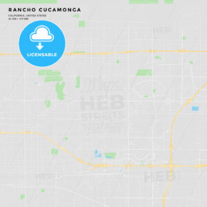 Printable street map of Rancho Cucamonga, California - HEBSTREITS