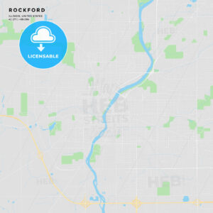 Printable street map of Rockford, Illinois - HEBSTREITS