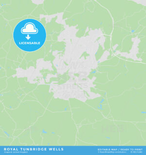 Printable street map of Royal Tunbridge Wells, England - HEBSTREITS