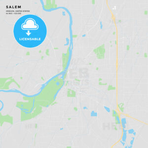 Printable street map of Salem, Oregon - HEBSTREITS