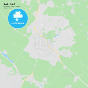 Printable street map of Salinas, California - HEBSTREITS