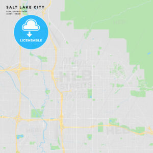 Printable street map of Salt Lake City, Utah - HEBSTREITS