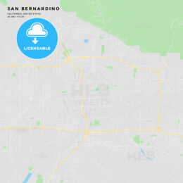 Printable street map of San Bernardino, California
