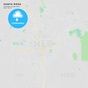 Printable street map of Santa Rosa, California - HEBSTREITS