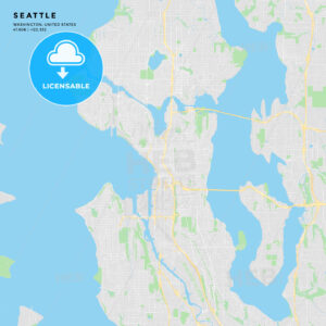 Printable street map of Seattle, Washington - HEBSTREITS