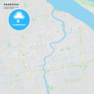 Printable street map of Shanghai, China - HEBSTREITS