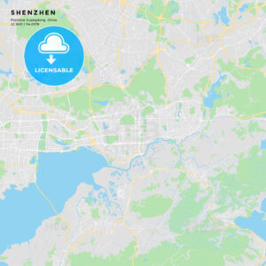 Printable street map of Shenzhen, China - HEBSTREITS