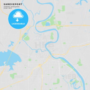 Printable street map of Shreveport, Louisiana - HEBSTREITS