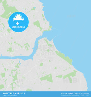 Printable street map of South Shields, England - HEBSTREITS
