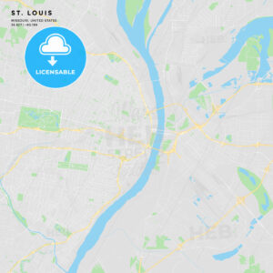 Printable street map of St. Louis, Missouri - HEBSTREITS