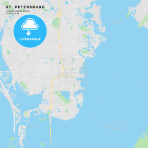 Printable street map of St. Petersburg, Florida - HEBSTREITS