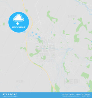 Printable street map of Stafford, England - HEBSTREITS