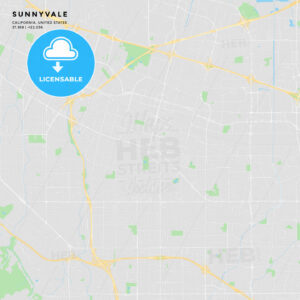 Printable street map of Sunnyvale, California - HEBSTREITS