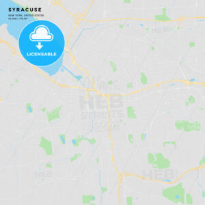 Printable street map of Syracuse, New York - HEBSTREITS