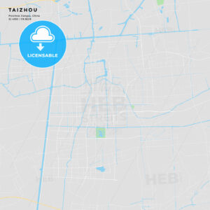 Printable street map of Taizhou, China - HEBSTREITS