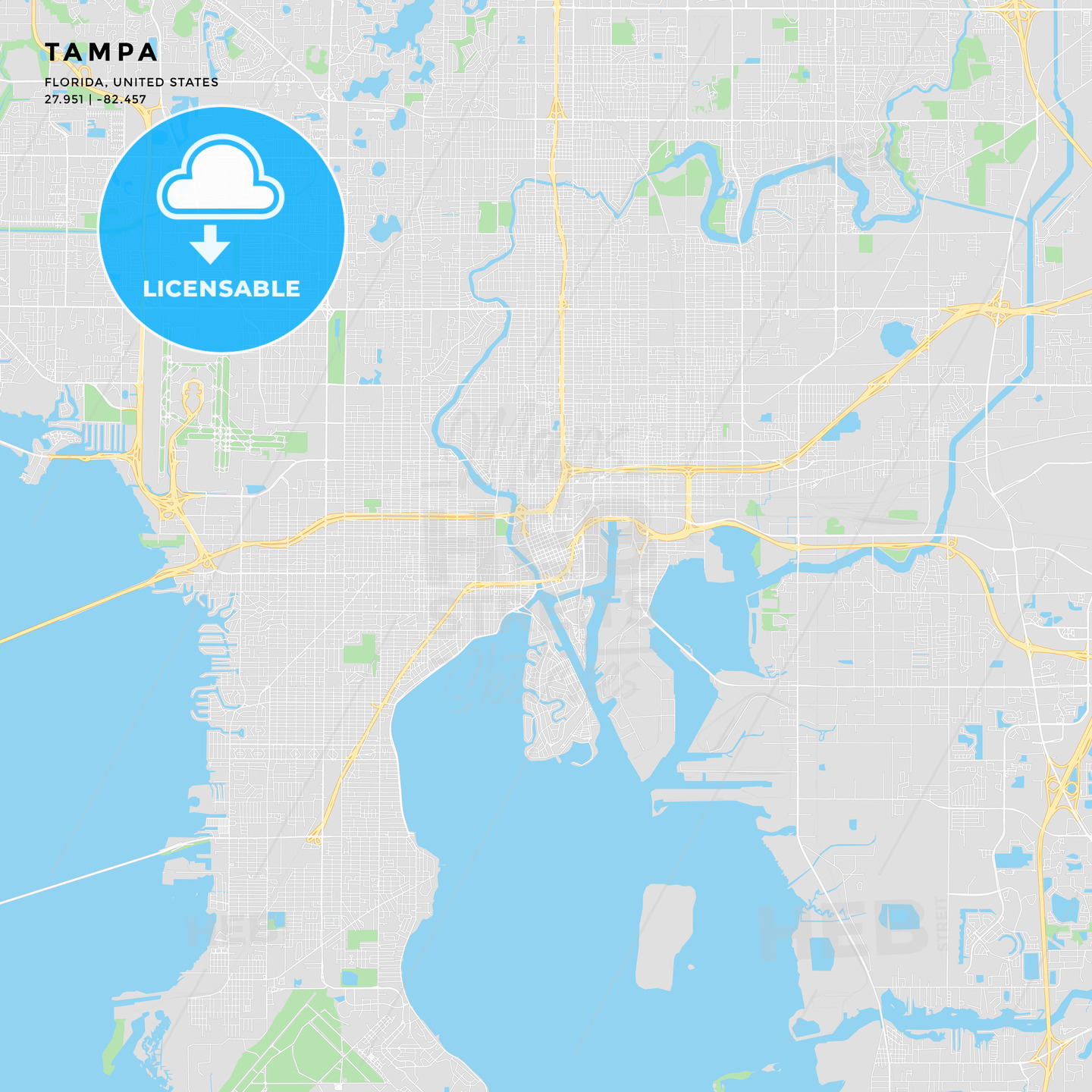 Tampa Florida Map State.Printable Street Map Of Tampa Florida Hebstreits Sketches