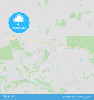 Printable street map of Telford, England - HEBSTREITS